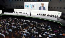 Werner Baumann, Vorstandsvorsitzender der Bayer AG, bei seiner Rede anlässlich der Hauptversammlung 2018 vor den Aktionären. (Bild: Bayer)