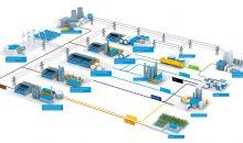 Großtechnische Wasserelektrolyse-Technologie von Thyssenkrupp. Bild: Thyssenkrupp