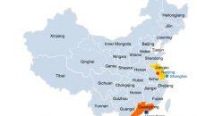 Im Gegensatz zu den bisherigen chinesischen Standorten des Unternehmens soll der neue Komplex nahe der Stadt Zhanjiang auf der Halbinsel Donghai nicht als deutsch-chinesisches Joint Venture realisiert werden, sondern voll im Besitz der BASF sein. Damit nutzt der Chemiekonzern ein vor kurzem von der chinesischen Regierung verabschiedetes Gesetz, das Investitionen ausländischer Unternehmen erleichtern soll. Bild: BASF