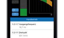 1: Mit der Smartphone-App Flow  Manager von KSB lassen sich die Pumpen-Drehzahlregelsysteme Pump Drive 2 und Pump Drive 2 Eco einfach bedienen und einstellen. Bild: KSB
