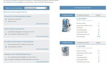 Vacuubrand Vacuum Pump Selection Guide Beispielscreen