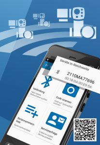 AUMA Assistant App auma_assistant_app_screen_1_de_with_QR