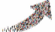 Menschen Gruppe Leute Menschengruppe Erfolg Wirtschaft Wachstum erfolgreich Strategie Business Gewinn