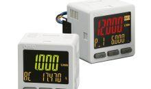 12: Die externen digitalen Durchflussanzeigen lassen sich getrennt vom Sensor installieren. Bild: SMC