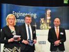 Thomas Waldmann, VDMA, Armin Scheuermann, CHEMIE TECHNIK und Carola Feller (Moderation) eröffneten den 6. Engineering Summit.