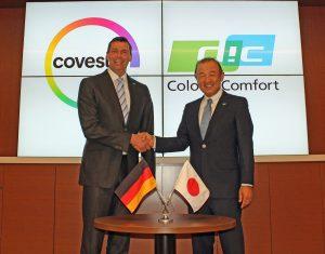 Bleiben weiterhin Partner: Kaoru Ino, Director, President und CEO von DIC und Dr. Markus Steilemann, Vorstandsvorsitzender von Covestro. (Bild: Covestro)