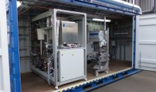 Prototyp der Co-Elektrolyse-Anlage. Im Industriemaßstab soll die Anlage 21.000 t/a CO2-Emissionen einsparen. (Bild: Sunfire)