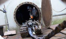 Lobbe hat bei Dow einen Roboter zur Reinigung eines Großtanks eingesetzt. Bild: Lobbe