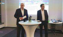 Einen Blick zurück und voraus gaben auf der Jahres-Pressekonferent von Infraserv Höchst die Geschäftsführer Jürgen Vormann (l.) und Dr. Joachim Kreysing (r.). (Bild: Redaktion)