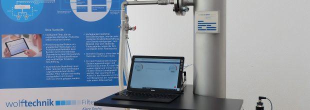 Abb2_Wolftechnik Smarter Filter_Demonstrator mit Prototyp des smarten Filtercontrollers_Foto Wolftechnik