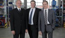 Die Geschäftsführer von Vogelsang (v.l.n.r.): Hugo Vogelsang, David Guidez, Harald Vogelsang. (Bild: Vogelsang)