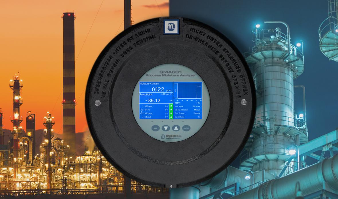 QMA601 Prozessfeuchteanalysator (Bildquelle: Michell Instruments)