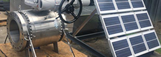 Rotork_Bild 1_Kugelhahn mit Stellantrieb IQ3 und Solarstromversorgung