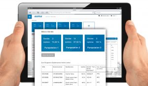 AUMA Cloud - Tablet mit Screenshot Device - DE