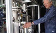 Die Versuchsanlage liefert einen Kubikmeter Kohlendioxid pro Stunde. Bild: ZSW