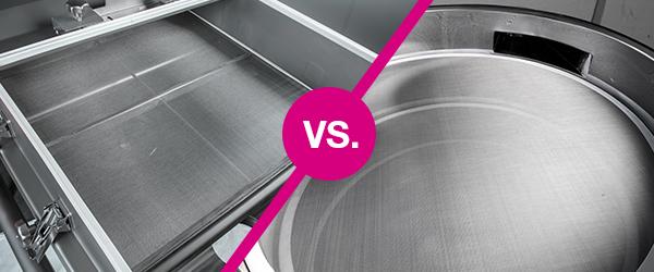 Vibrationsmaschine Rundsieb vs. Rechtecksieb