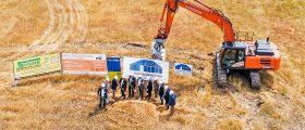 Spatenstich für eine neue Recyclinganlage am Knapsacker Hügel. (Bild: Yncoris)
