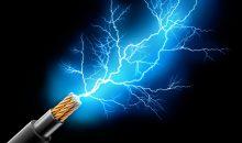 Kabel mit Blitz