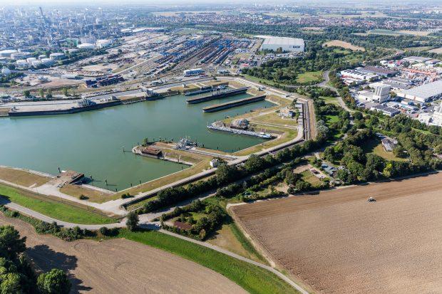 Der Landeshafen Nord / The north harbor