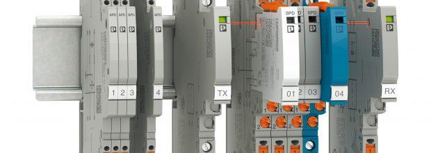 Viele Signale schützen: Leistungsstarke Überspannungsschutzgeräte mit niedrigen Schutzpegeln bieten einen optimalen Schutz für MSR-Anwendungen. Bild: Phoenix Contact