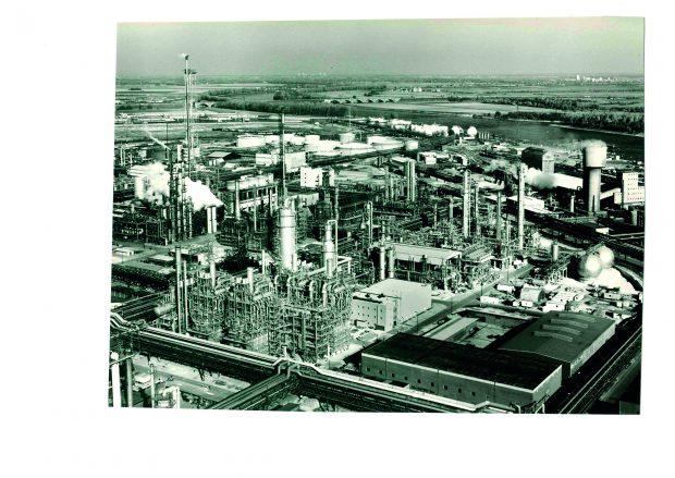 Der - neue - Steamcracker der BASF in Ludwigshafen 1980. Mit 400 Mio. DM die damals größte Einzelinvestition des Chemiekonzerns