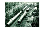 Großanlagen-Projektgeschäft war schon immer anders als andere Industrien. Fertigungshalle von Krupp Industrie- und Stahlbau, Werk Essen, mit Hochdruckbehältern für die Chemieindustrie (1976). Bild: Krupp / CarryLove – stock.adobe.com