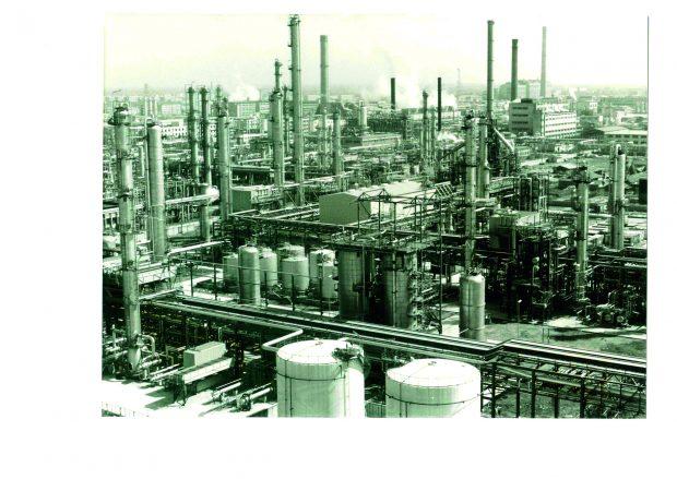 Von Lurgi gebauter Petrochemiekomplex in Shanghai 1985_Investitionsvolumen über 600 Mio. DM