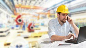 Fertigung im Maschinenbau - Ingenieur in der Planung vor Ort // manufacturing engineering