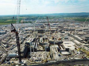 Die Bauarbeiten am Atomkraftwerk Hinkley Point C haben mit schwierigen Bodenverhältnissen zu kämpfen. (Bild: EDF)