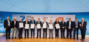 Die Preisträger des Energy-Efficiency Award 2019. (Bild: Dena)