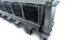 Das Herzstück der PEM (Protonen Exchange Membran) Elektrolyse ist der Silyzer von Siemens, der sich besonders für die Aufnahme von Wind- und Solarstrom eignet. (Bild: Siemens)