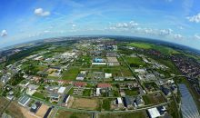 2018 Bitterfeld neu Luftaufnahme Chemiepark