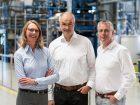 Erfolgreiches Team:  Berit Stange, Christoph Gürtler und Professor Walter Leitner. Bild: Covestro