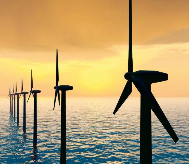 Der Grünstrom soll aus einer neu errichteten Offshore-Anlage vor Borkum kommen. (Bild: Covestro)