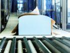 Ein Block weicher Polyurethan-Schaumblock - eine Komponente ist mit CO2 hergestellt. Bild: Covestro