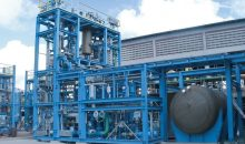 Die vorgefertigten Module der Chloralkali-Anlage müssen nur noch vor Ort verbunden werden. (Bild: Thyssenkrupp Industrial Solutions)