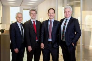 Der neue Vorstand der KROHNE Gruppe (vlnr): Ingo Wald (CFO), Ansgar Hoffmann (CSO), Dr. Attila Bilgic (CEO und Sprecher) und Stephan Neuburger (CBDO) (Bild: Krohne)