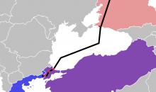 Die neu eröffnete Pipeline Turkish Stream verläuft über 930 km durch das Schwarze Meer. Bild: Consiglieri88