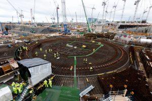 Baustelle des neuen Atomkraftwerks Hinkley Point C