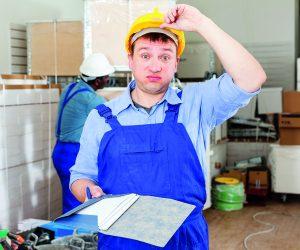 Perplexed worker