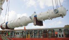 Verladen einer LNG-Einheit am Air Products Standort Fort Manatee, Florida. (Bild: Air Products)