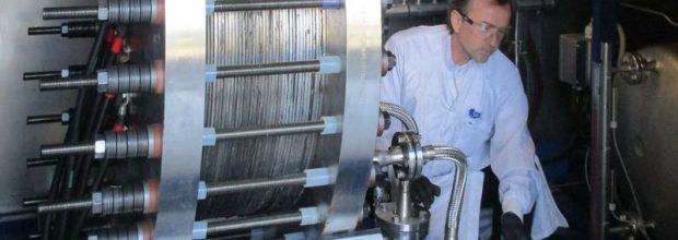 Teststand für alkalische Druckelektrolyse-Blöcke mit einer elektrischen Leistung bis 100 KW. (Bild: ZSW)