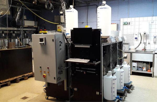 Hydrolysereaktor der Universität Hohenheim. (Bild: Sebastian Reinhardt, Fraunhofer ICT)