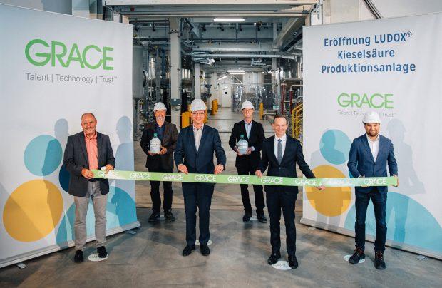 Grace hat in Worms eine neue Anlage zur Herstellung kolloidaler Kieselsäure eröffnet. Bild: Grace