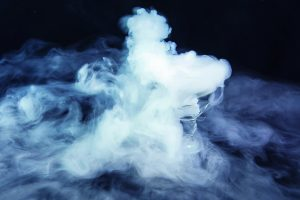 The mist with the effect of dry ice on black background