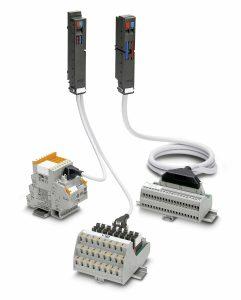 Bild 3: Das Varioface-System setzt sich aus einem Frontadapter, Systemkabel, Module und Adapter verbinden die IO-Baugruppe mit der Feldebene – Bild Phoenix Contact