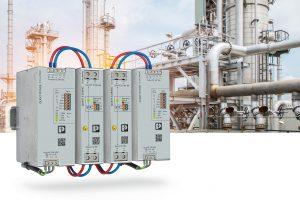 Mit dem aktiven Redundanzmodul Quint-S-Oring lassen sich Stromversorgungen entkoppeln