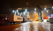 Der erste direkte Güterzug nach China wurde im Rail Service Center Rotterdam zusammengestellt. (Bild: Danny Cornelissen)